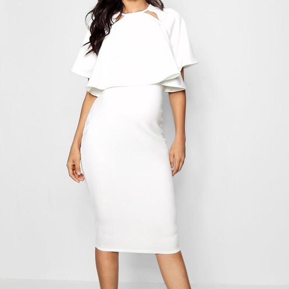 dce2e70cf33f Boohoo Dresses | White Maternity Dress | Poshmark